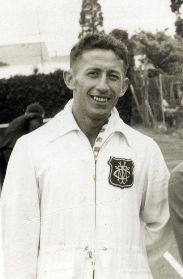 1958 NZMLT Champs Whangarei - Bernie Harris (r/u) Mens singles