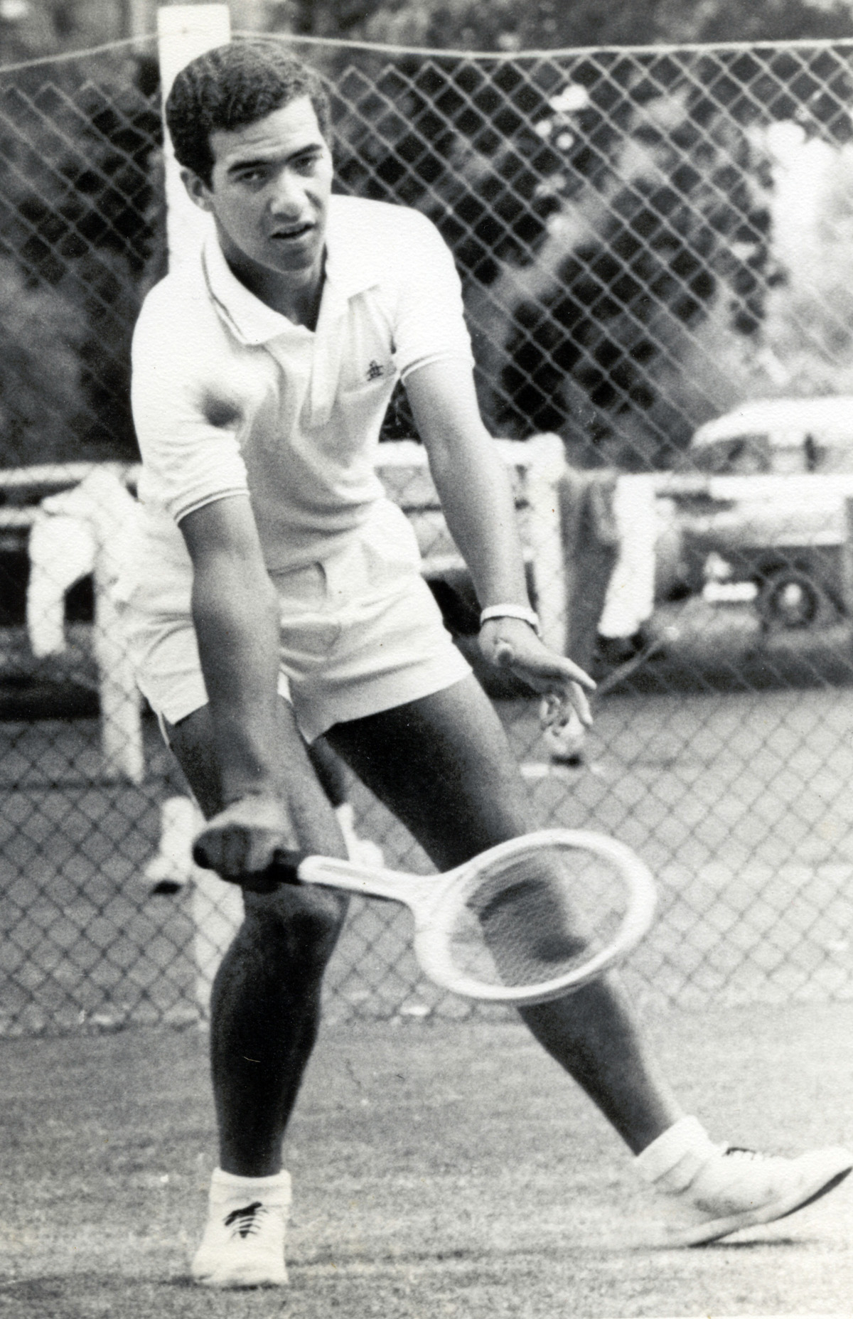 Barry Smith 1968 NZMLTA Mens Singles winner V Mose Harvey at Rotorua