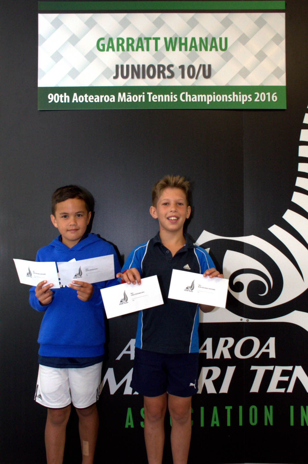 10s Boy Doubles Winners - Nikau Going and Benji Bryce