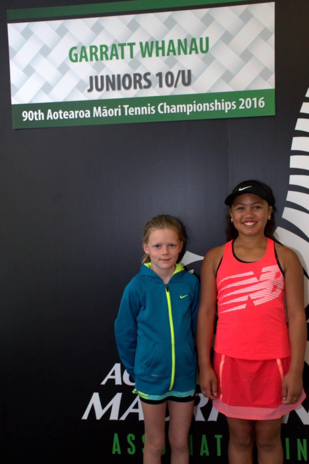 10s Girls Doubles Winners: Hayde Fenkner and Zeeah Waerea-Tamai