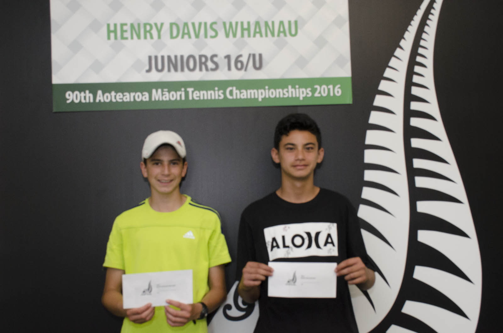 14s Boys Doubles Winners - Jaiden Edmonds and Phillip Warren