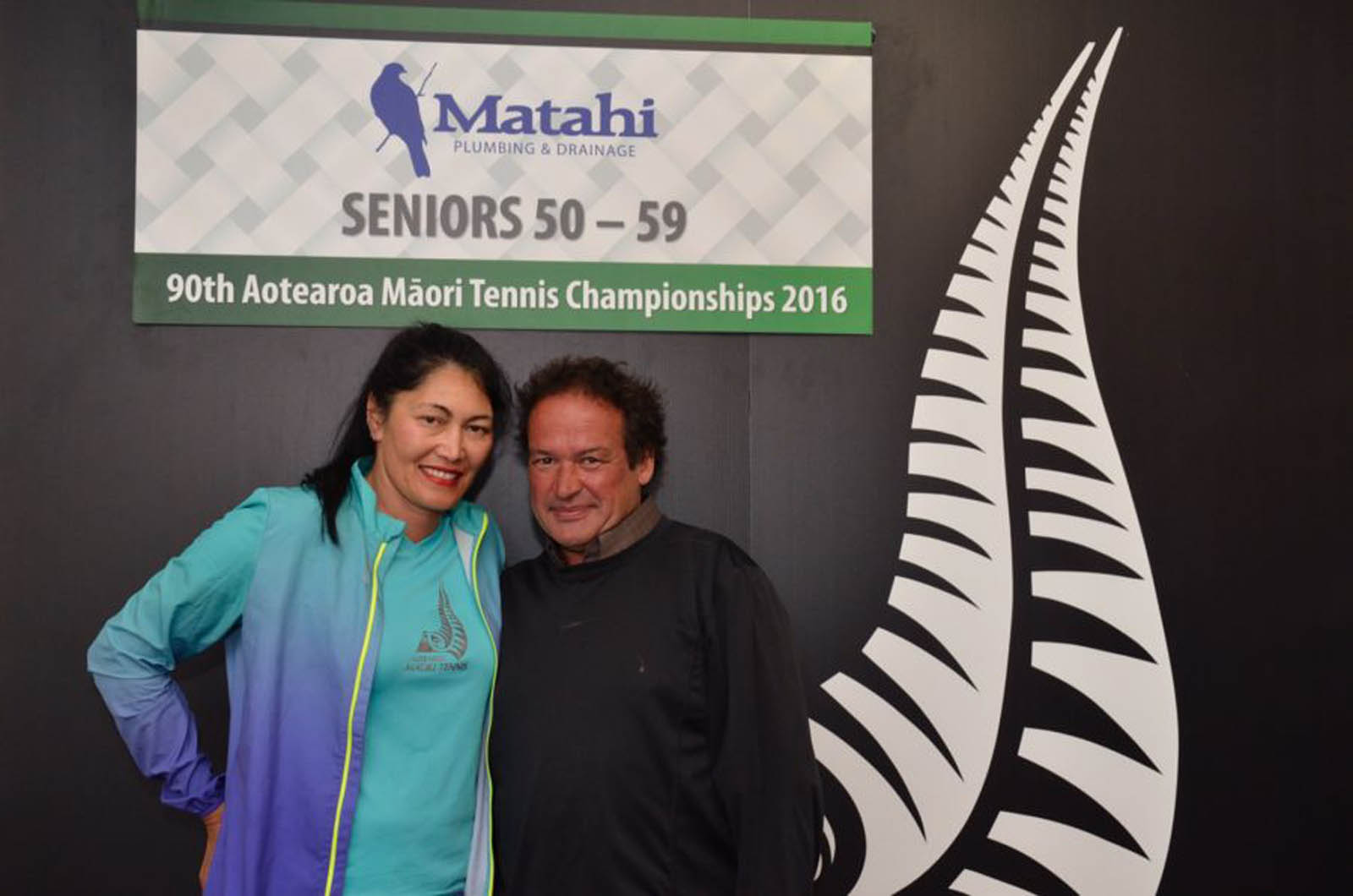 50-59 Mixed Doubles Winners - Tia Van Selm Ormsby and Wayne Thomson