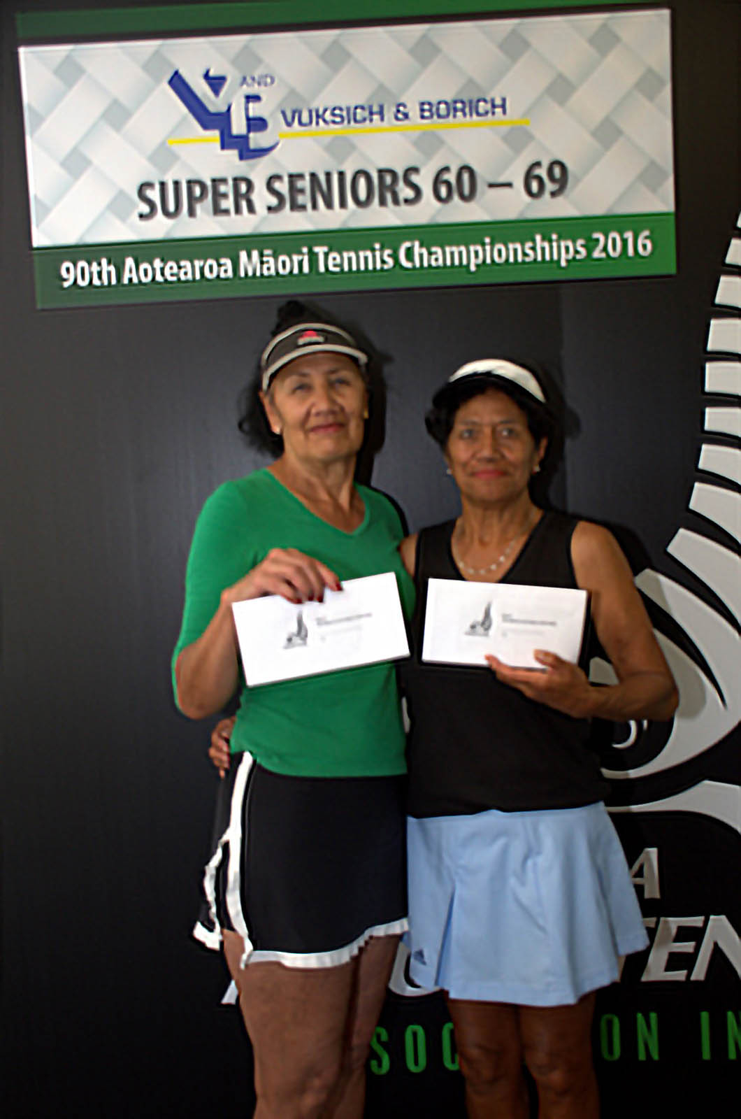 60-69 Womens Doubles Winners - Veronica Vercoe and Marion Mills