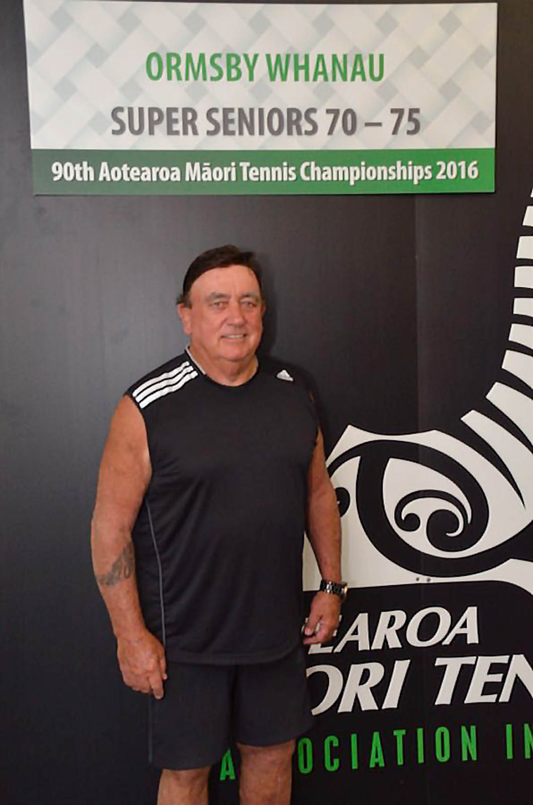70+ Mens Singles Winner - Tikirau Garratt