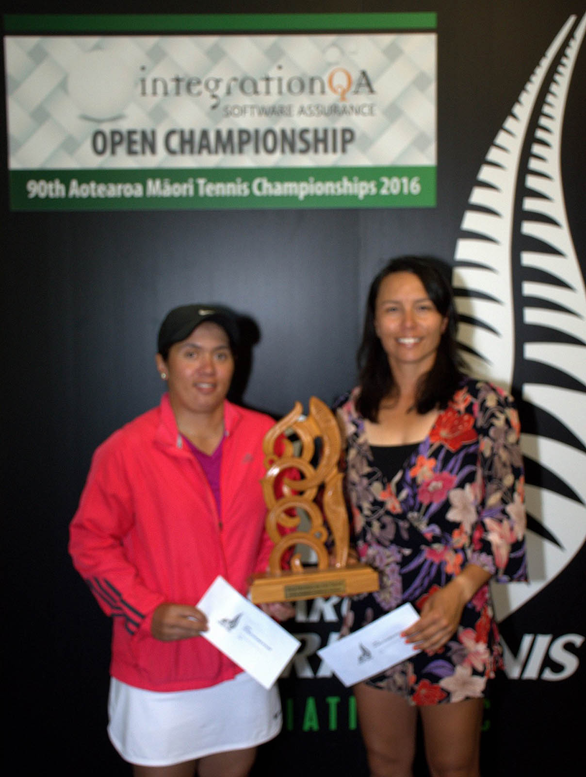 Open Womens Doubles Winners: Luci Barlow and Tracey O'Connor