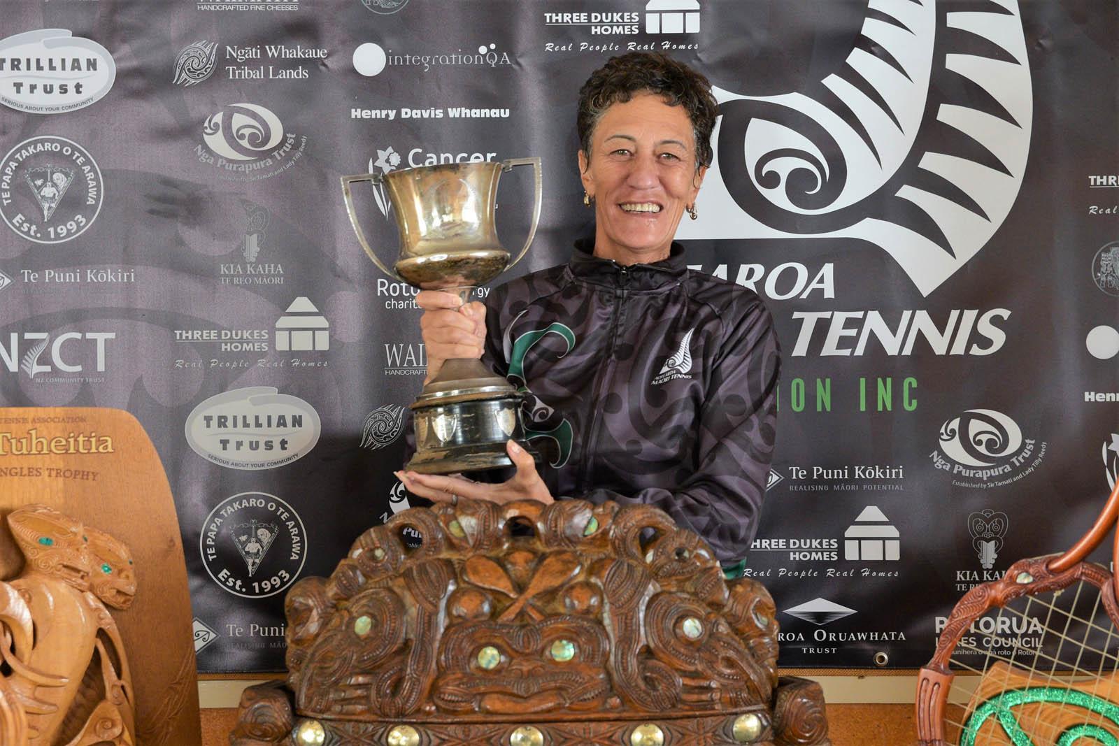 Ngāti Whakaue Tribal Lands Ltd 50-59 Womens Singles Winner Leona Bette Kaye-Ivitu