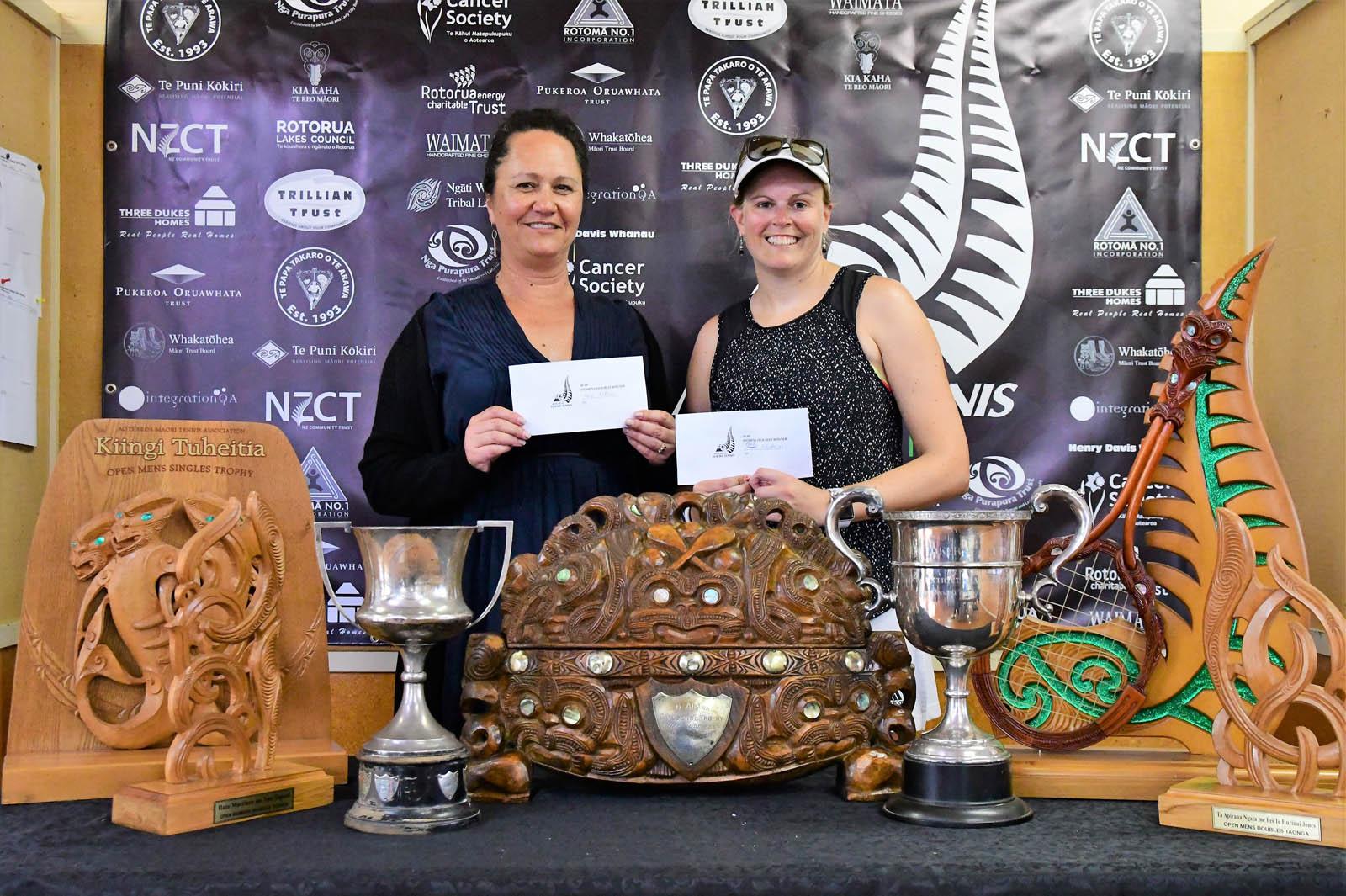 Pukeroa Oruwhata Trust 30-49 Womens Doubles Winners Fiona Wikaira and Paula Stubbing