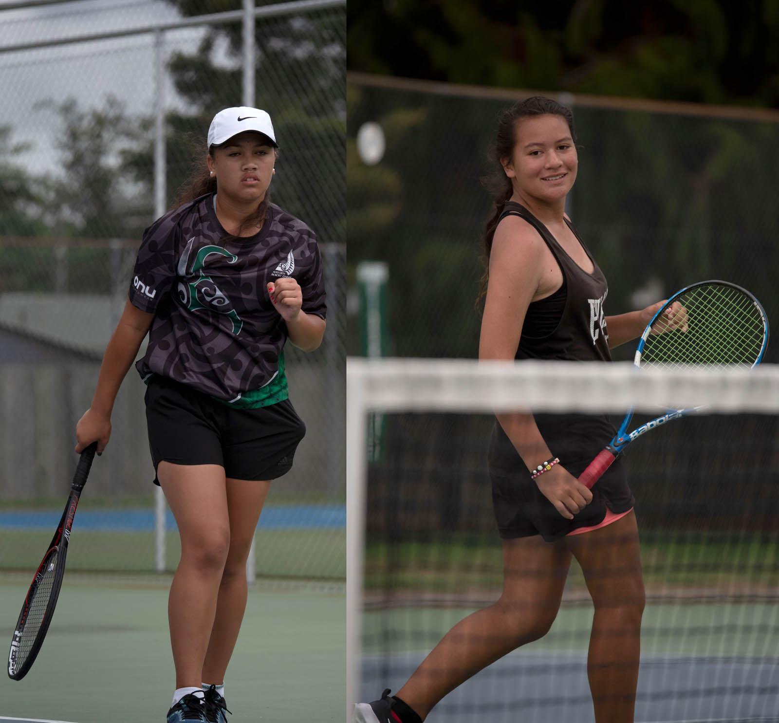 Te Papa Takaro o Te Arawa 16 Girls Doubles Winners Zeeah Waerea-Tamai and Tamara Jazlin Teu