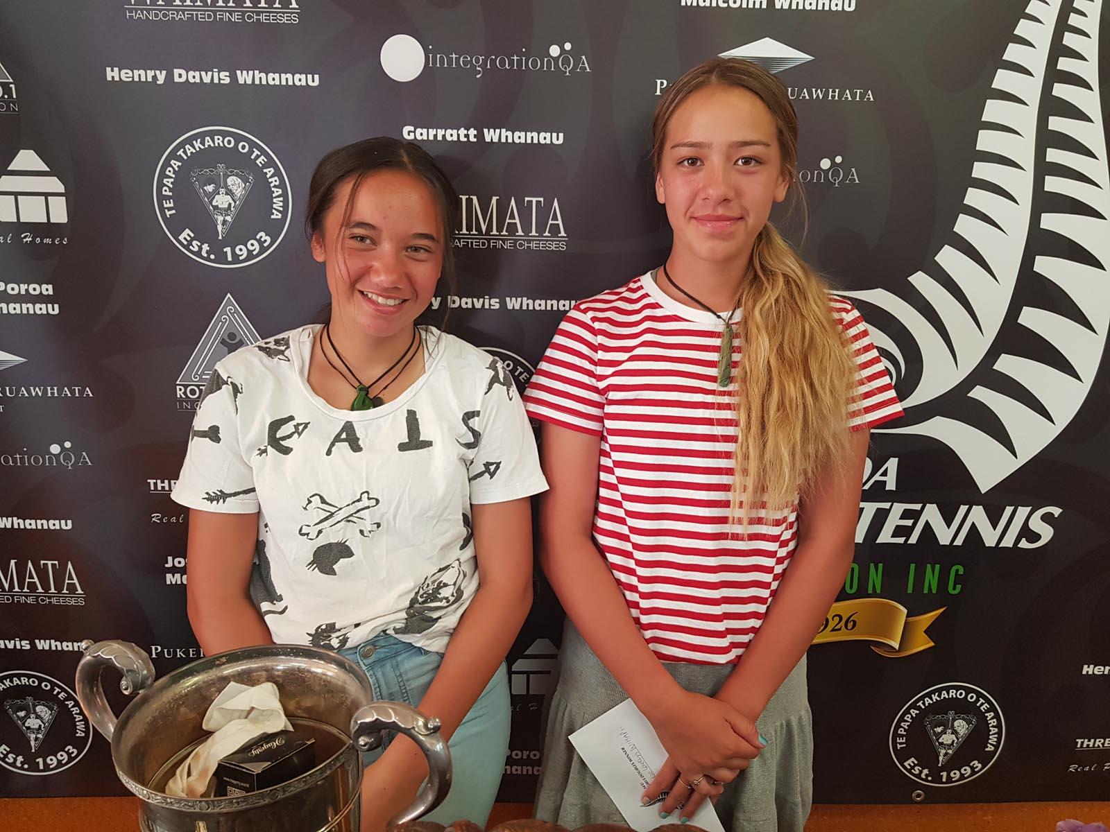 14-Girls-DBLS-winners-Rebecca-ClementsLaekyn-Hill-Wihape