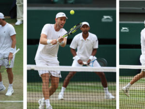 SALUATIONS TO MICHAEL VENUS AT WIMBLEDON